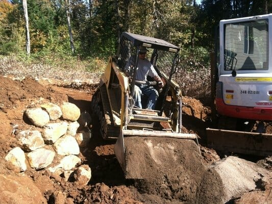 Our team provides residential excavation on new properties, or when redesigning old landscapes | Junction City Oregon