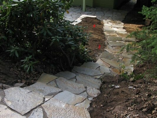 EO Landscaping sets custom staircases, and builds matching patios | Junction City Oregon