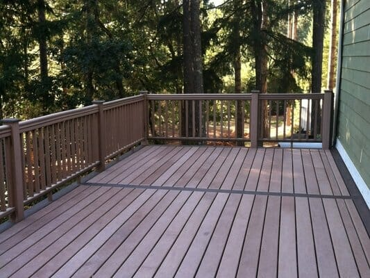 EO Landscaping builds composite decks and patios, custom to our clients' needs