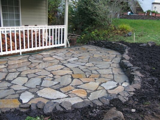 Providing fully custom flagstone decks | Junction City Oregon